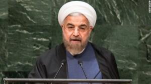 Hassan Rouhani, presidente de Irán durante su discurso en la ONU.