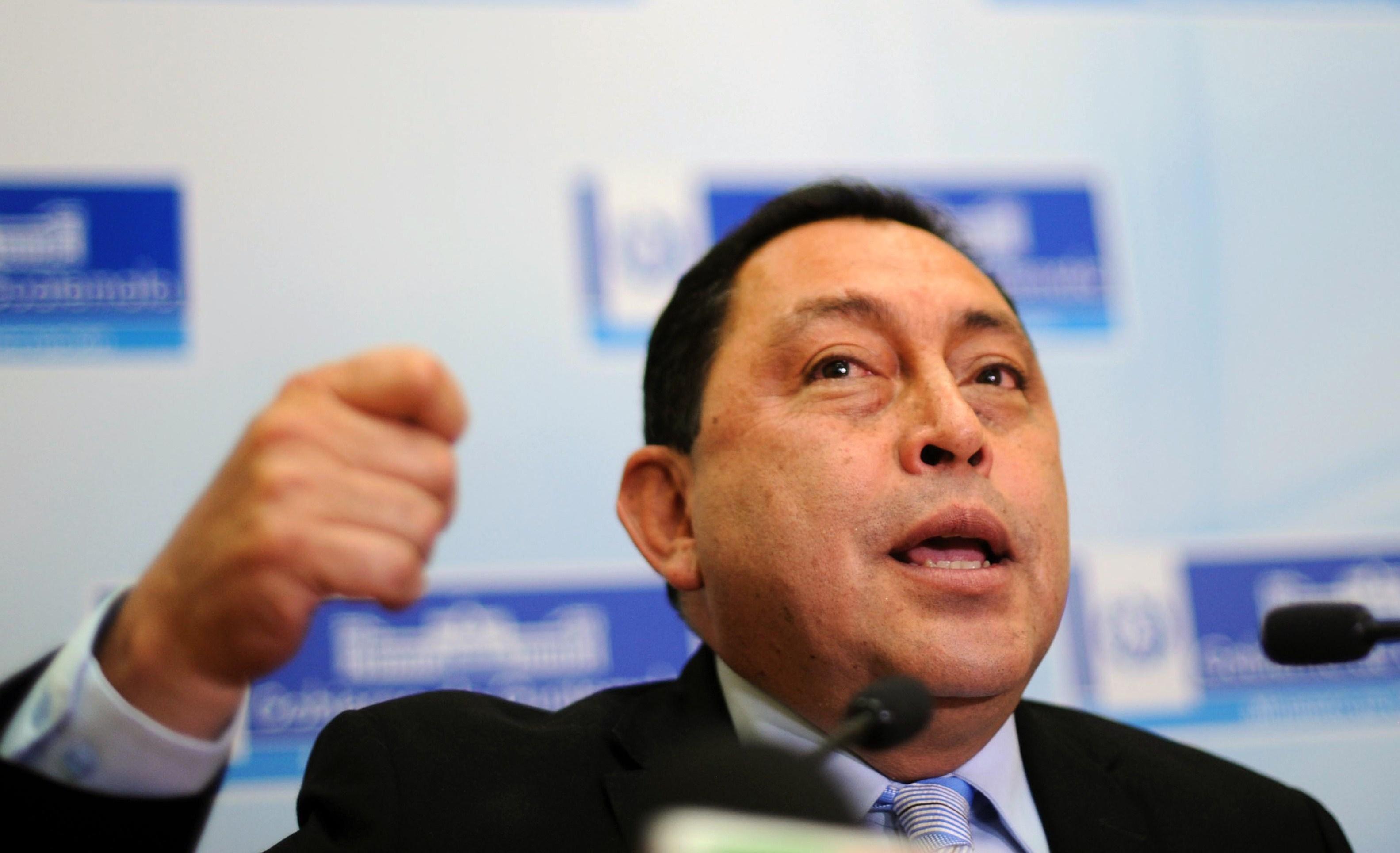 Mauricio Lopez Bonilla, exministro del Interior de Guatemala (Crédito: JOHAN ORDONEZ/AFP/Getty Images)