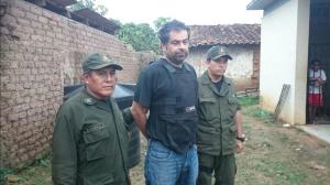 La policiía de Bolivia capturó el jueves 28 de mayo a Martín Belaunde en la población de Magdalena, a 800 kilómetros al norte de La Paz. (Crédito: Agencia ABI/Min.Gobierno)