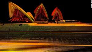 La estructura de la Opera de Sidney fue capturada por este láser.