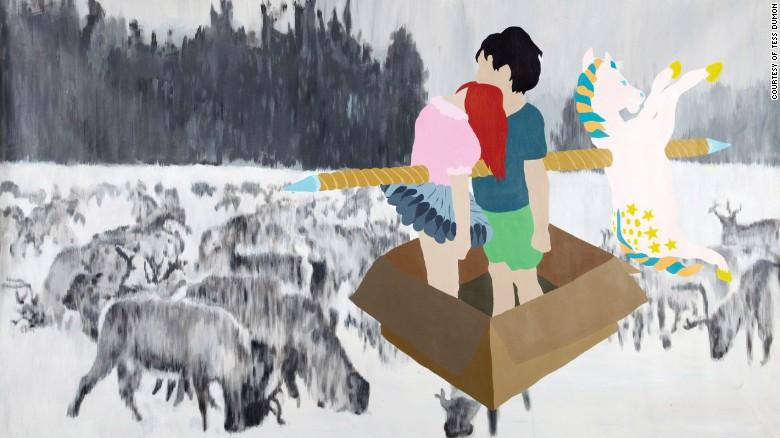 Tess Dumon empezó a explorar su relación con su hermano a través de la pintura.
