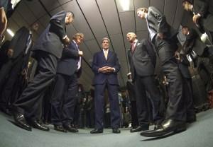 El grupo de los 5+1 alcanzó luego de dos años un histórico acuerdo nuclear con Irán, para evitar la proliferación de armas nucleares. (Crédito: JOE KLAMAR/AFP/Getty Images)