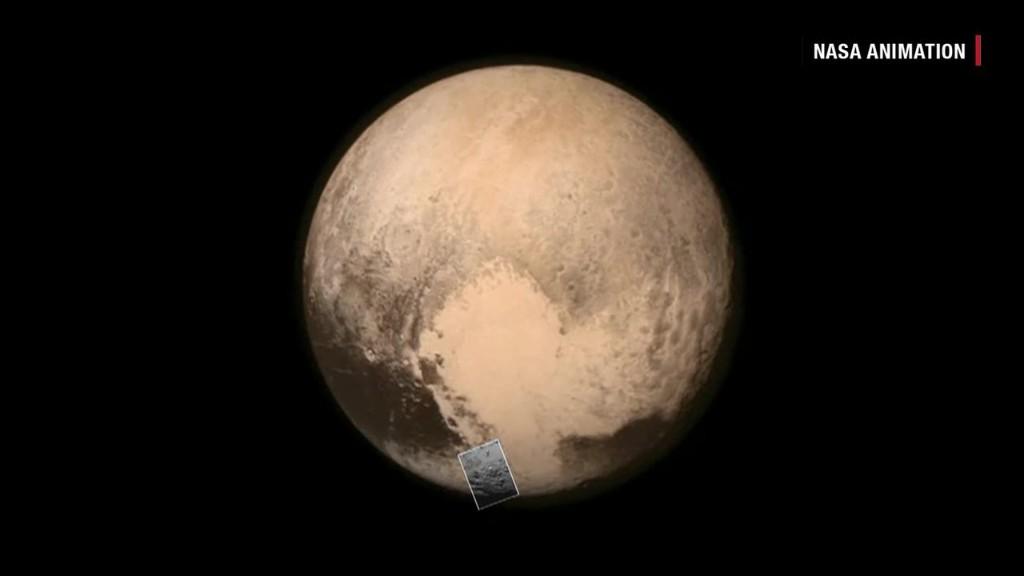 El 8 de julio la nave capturó una imagen del planeta enano en donde se observa un área brillante en forma de corazón.