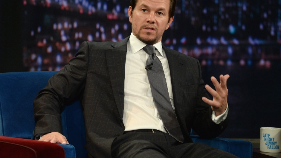 """NEW YORK, NY - JULY 29: Mark Wahlberg visits """"Late Night With Jimmy Fallon"""" at Rockefeller Center on July 29, 2013 in New York City. (Photo by Theo Wargo/Getty Images)"""