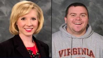 Los dos periodistas muertos, Alison Parker y Adam Ward.