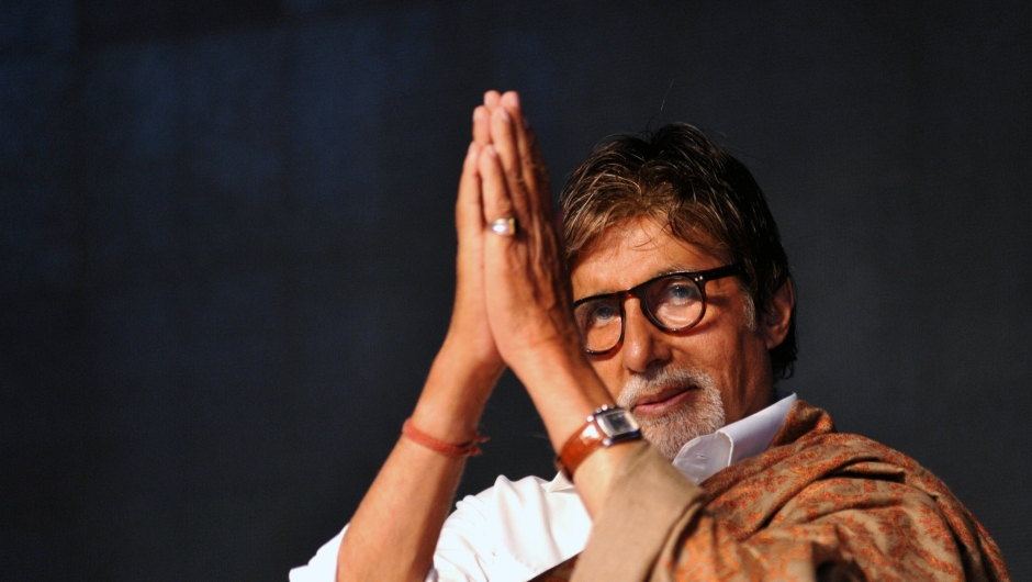 ndian Bollywood actor Amitabh Bachchan attends an event organised by the Rotary Club of Bombay in Mumbai on February 1, 2015. AFP PHOTO/STR (Photo credit should read STRDEL/AFP/Getty Images)