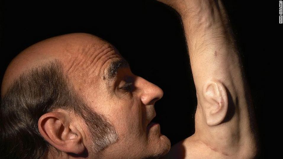 Hombre oreja brazo arte