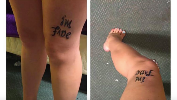 Tatuaje depresión save me I'm fine