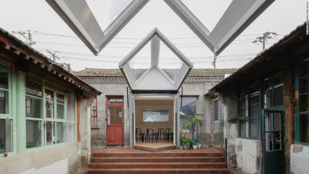 Popular Architecture Office (PAO) es una de las empresas que trabajan en la zona histórica de Dashilar, la cual hace diseños para modernizar y preservar las casas tradicionales de Beijing al entretejer nuevos elementos en las estructuras centenarias. (Crédito: People's Architecture Office)