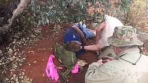 Reginald Foggerdy, de 62 años sobrevivió al desierto comiendo hormigas durante seis días