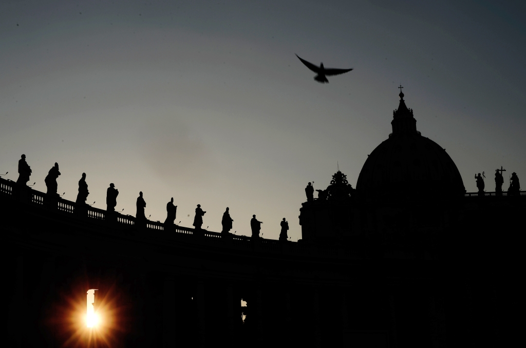 TOPSHOTS A picture taken on March 4, 2013 shows St. Peter's Square at the Vatican. Cardinals started talks to set the date for the start of the conclave this month and help identify candidates among the cardinals to be the next Pope of the world's 1.2 billion Catholics. AFP PHOTO / FILIPPO MONTEFORTEFILIPPO MONTEFORTE/AFP/Getty Images