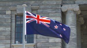 La bandera actual de Nueva Zelanda.