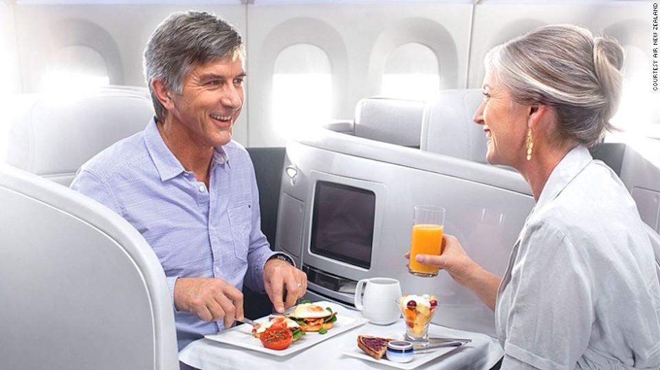 Desayuno de campeones: Air New Zealand impresionó en todos los ámbitos.