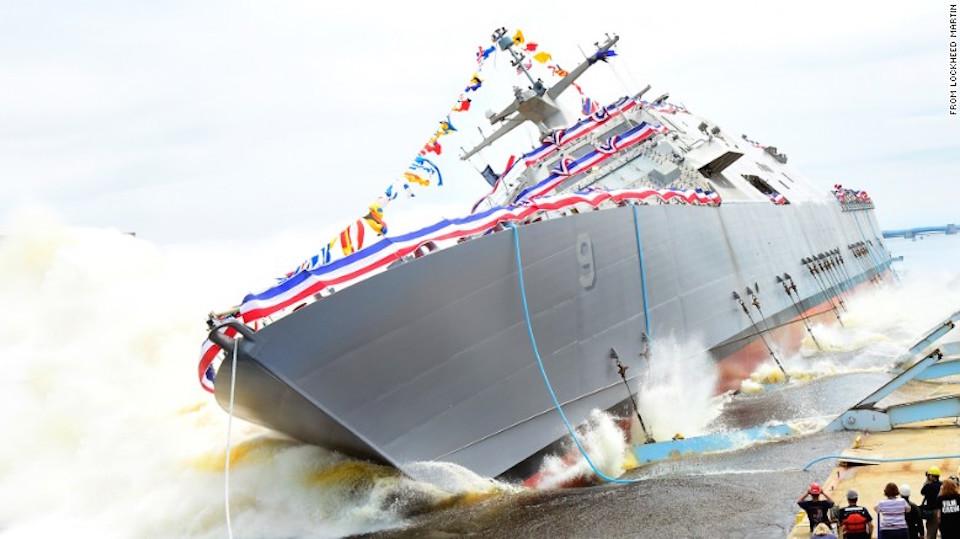 En la imagen, el USS Little Rock, conocido como LCS9.
