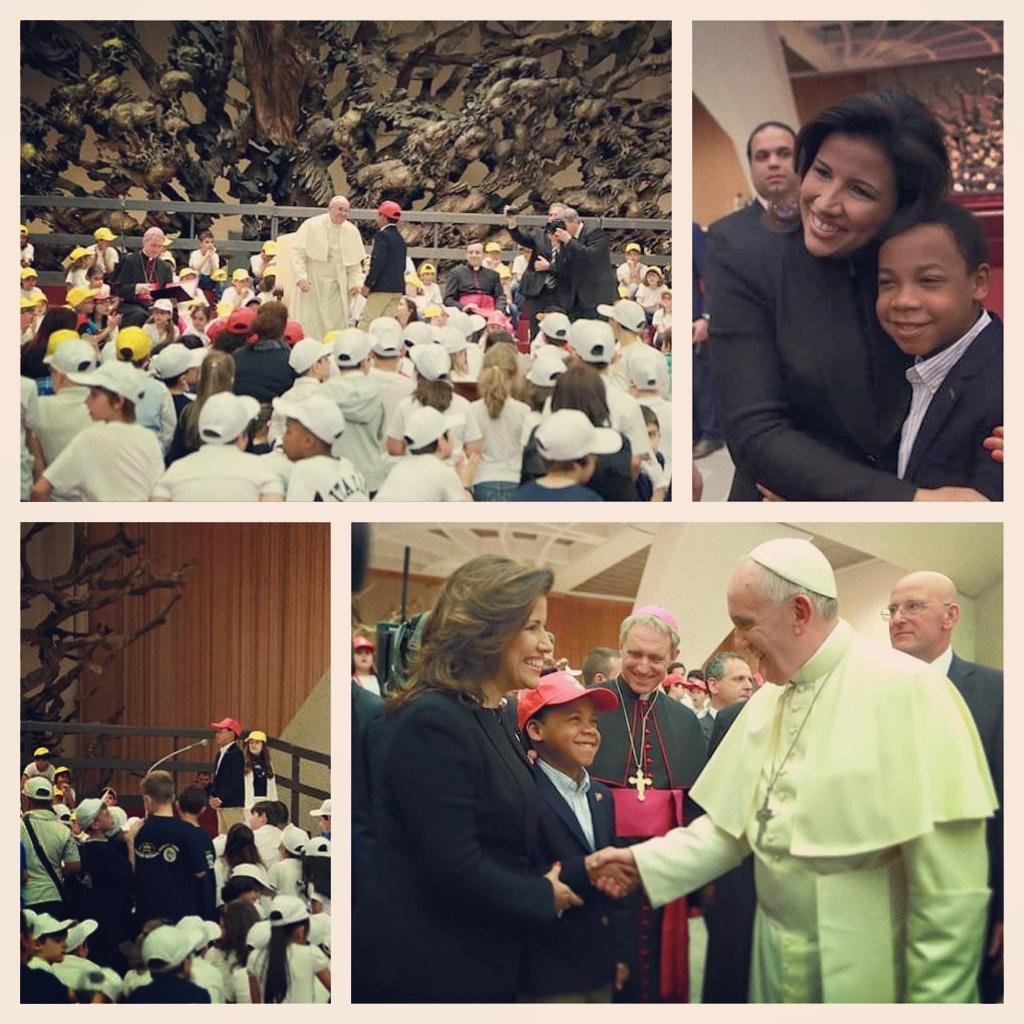 Rafael de Jesús Minaya durante su encuentro con el pontífice el pasado noviembre durante una audiencia realizada en el Vaticano, dedicada a los refugiados de Libia.