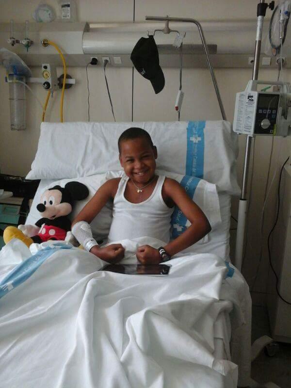 """Rafy, o """"El campeón"""" como le llaman sus seres queridos, es visto como un milagro de vida por doctores y familiares."""