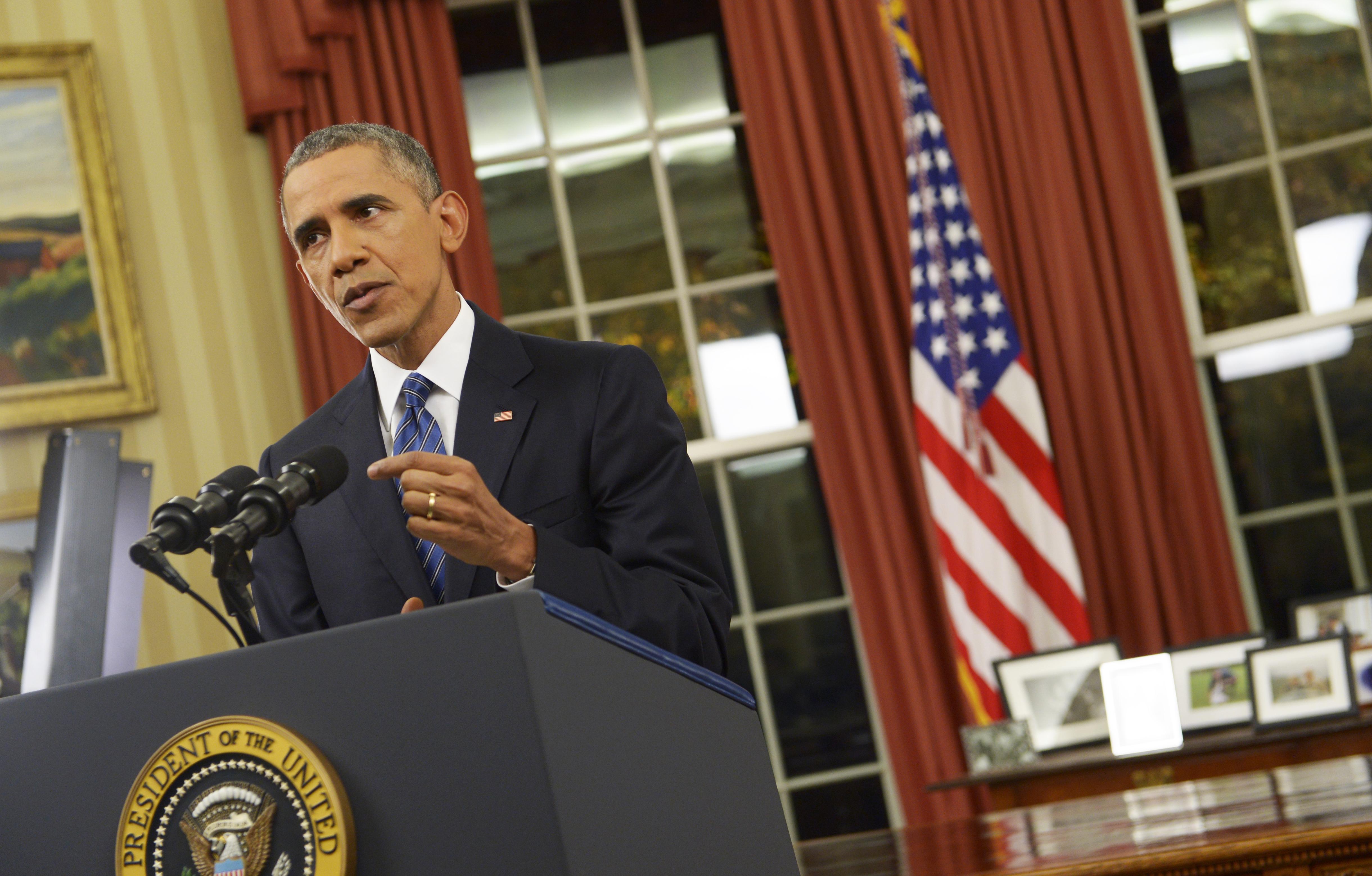 El presidente Barack Obama se dirigió a los estadounidenses desde la Oficina Oval de la Casa Blanca para abordar la nueva forma de amenaza terrorista contra Estados Unidos. (Saul Loeb/Getty Images)