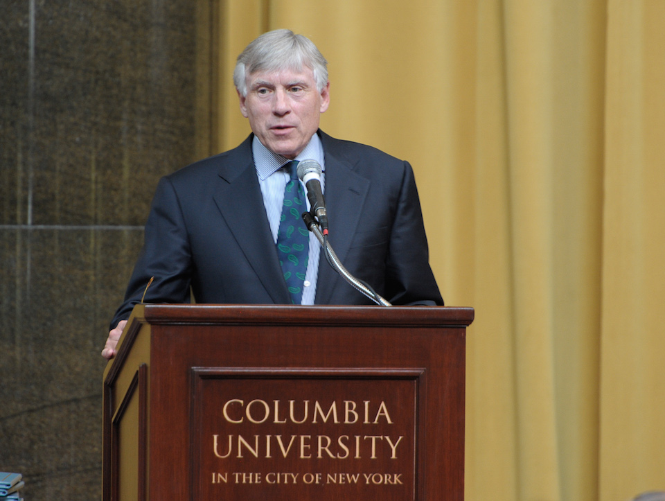 Lee Bollinger, presidente de la Universidad de Columbia. (Crédito: Dave Kotinsky/Getty Images)