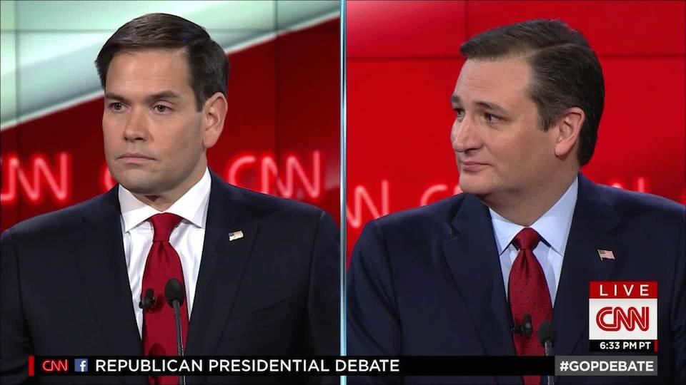 Marco Rubio y Ted Cruz se perfilaron como la nueva generación del partido republicano en el debate de CNN este martes.