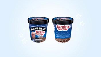 Las aspiraciones presidenciales de Bernie Sanders hechas helado.