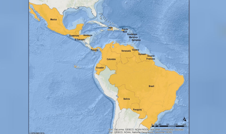 La mayoría de países de América Latina han registrado casos de Zika. (Crédito: Paho.org)