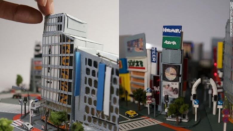 Tokio recreada en papel.