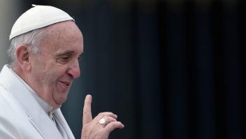 El papa Francisco durante una audiencia especial por el año del jubileo en la Plaza de San Pedro. (Crédito: TIZIANA FABI/AFP/Getty Images)