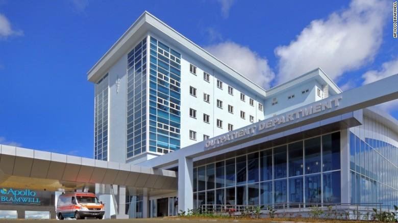 El nuevo hospital Apollo Bramwell en Mauricio.