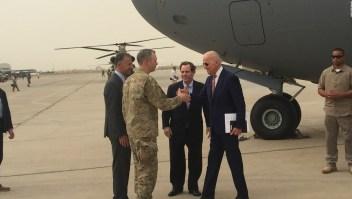 Joe Biden a su llegada a Iraq.