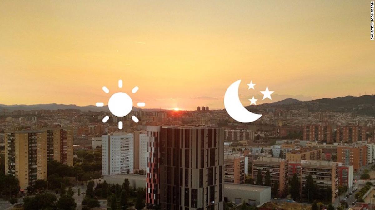 Día o noche, los símbolos pueden ser usados virtualmente en cualquier circunstancia. (Crédito: Cortesía / ICONOSPEAK)