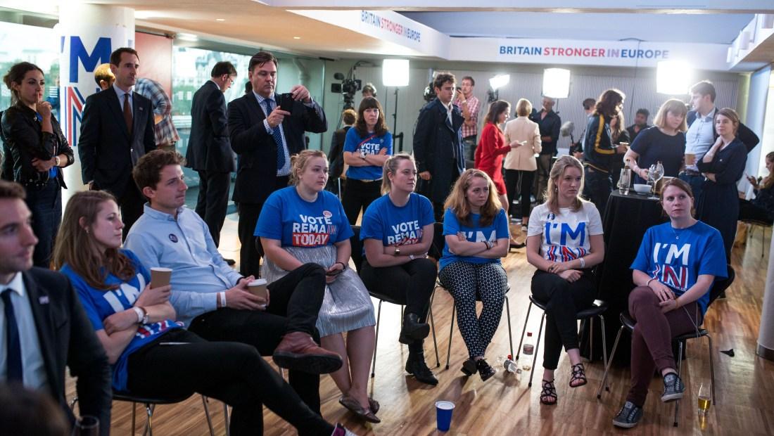 Muchos jóvenes británicos expresaron en las redes sociales su malestar por la decisión de abandonar la Unión Europea.