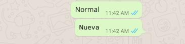 Nueva letra de Whatsapp