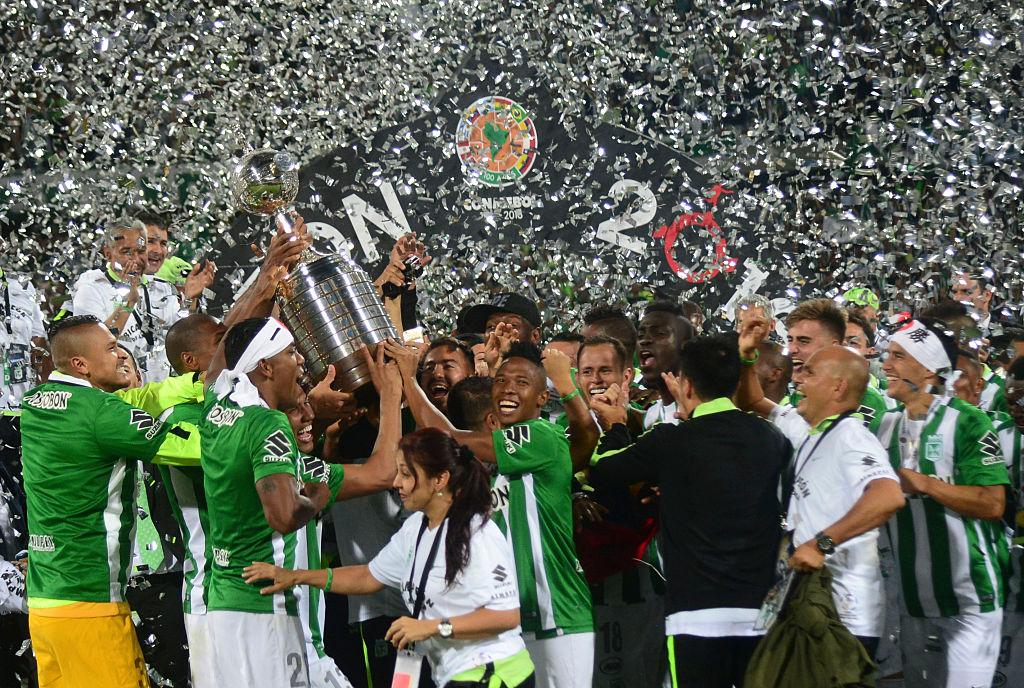 Atlético Nacional se convirtió en el nuevo campeón continental al vencer 1-0 a Independiente del Valle de Ecuador. (Crédito: RAUL ARBOLEDA/AFP/Getty Images)