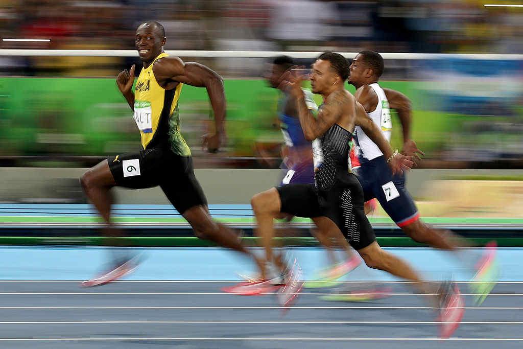 El rayo no tiene rival: Usain Bolt es tricampeón olímpico de los 100 m. Ganó con 9,81 segundos (Crédito: Cameron Spencer/Getty Images)