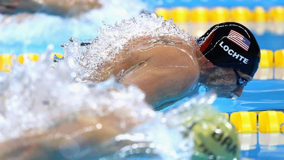 IO DE JANEIRO, BRAZIL - AUGUST 10: Ryan Lochte of the United States competes in the second Semifinal of the Men's 200m Individual Medley on Day 5 of the Rio 2016 Olympic Games at the Olympic Aquatics Stadium on August 10, 2016 in Rio de Janeiro, Brazil. (Photo by Al Bello/Getty Images)