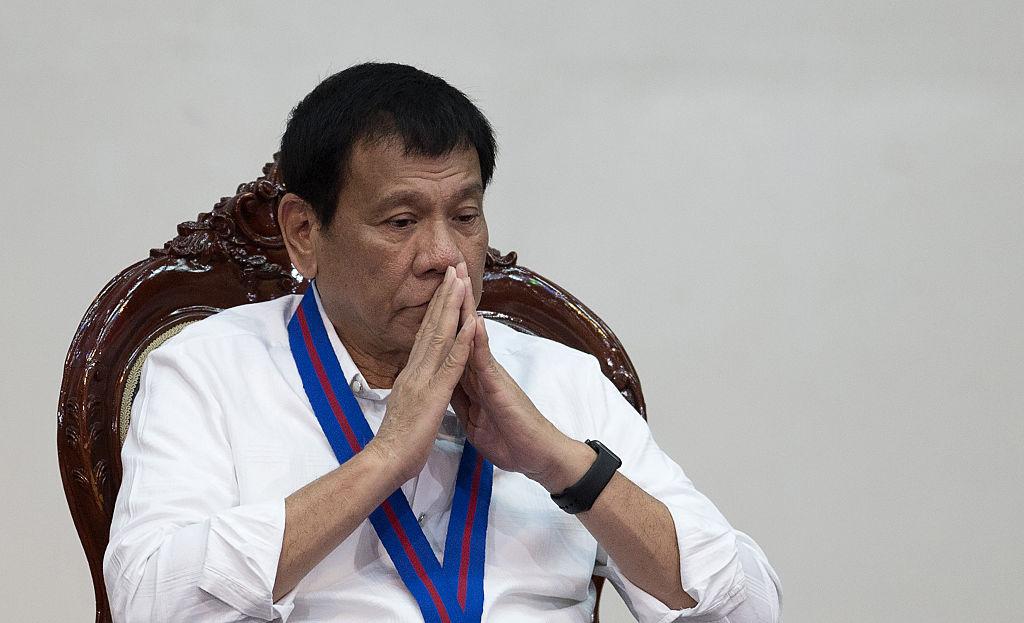 Rodrigo Duterte, presidente de Filipinas, durante el aniversario 115 de la policía de ese país en Manila, el 17 de agosto de 2016. (Crédito: NOEL CELIS/AFP/Getty Images)