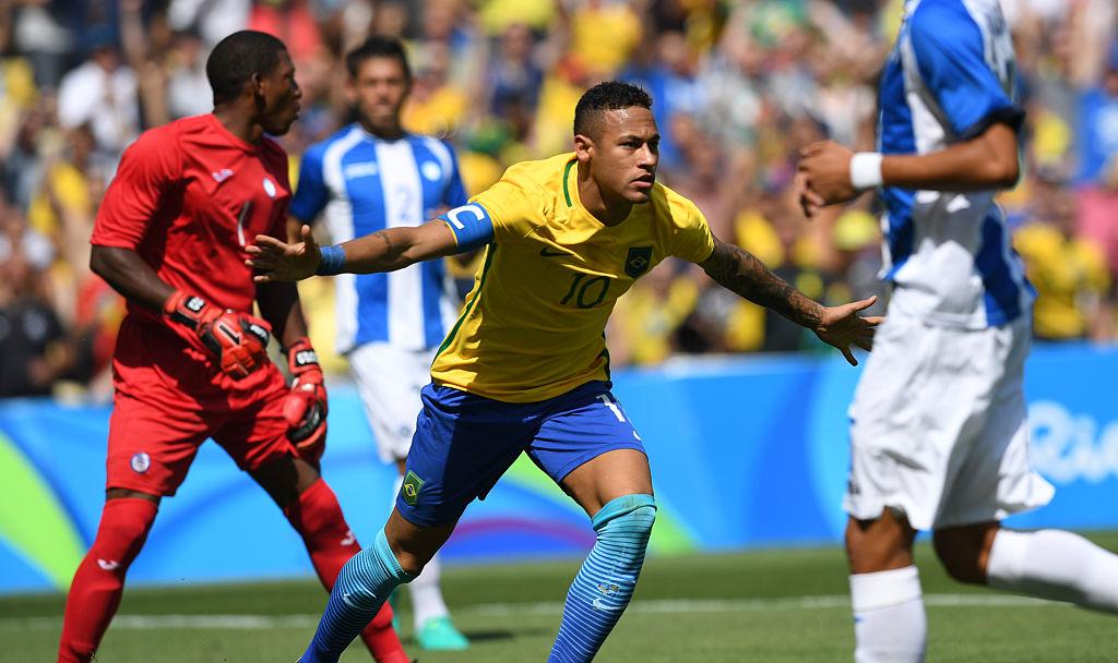 Neymar hizo historia al anotar el gol más rápido de unos Juegos Olímpicos. (VANDERLEI ALMEIDA/AFP/Getty Images)
