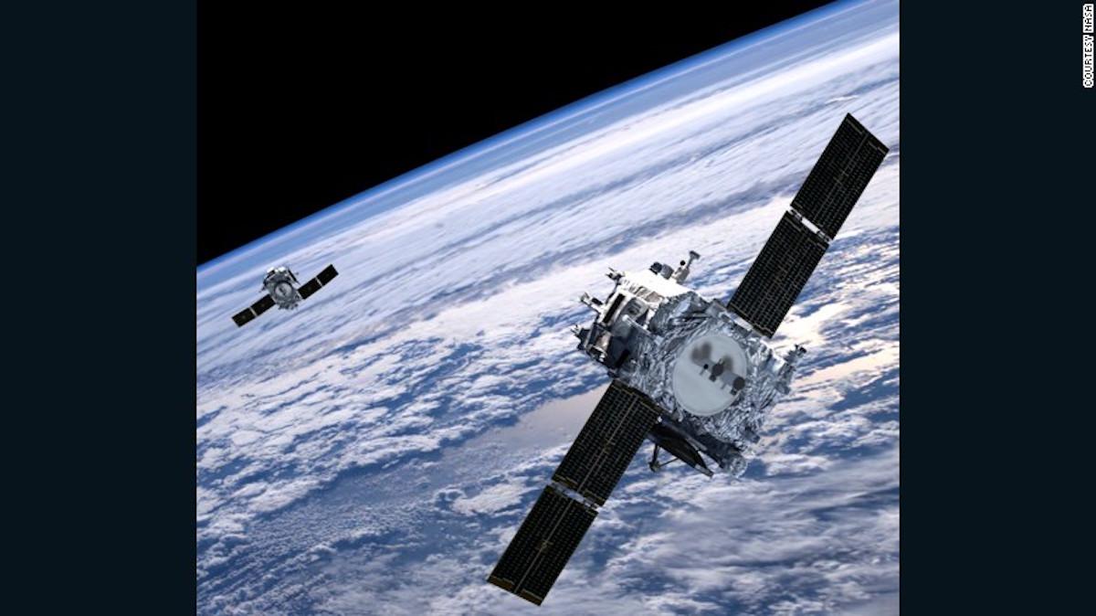 Las naves espaciales STEREO-A y STEREO-B estudiando el sol.