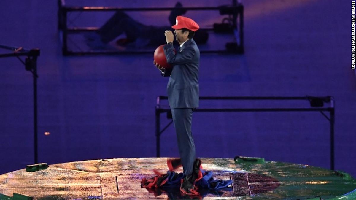 El primer ministro Shinzo Abe se presentó en el cierre de los Olímpicos de Río 2016. (Crédito: Getty Images)