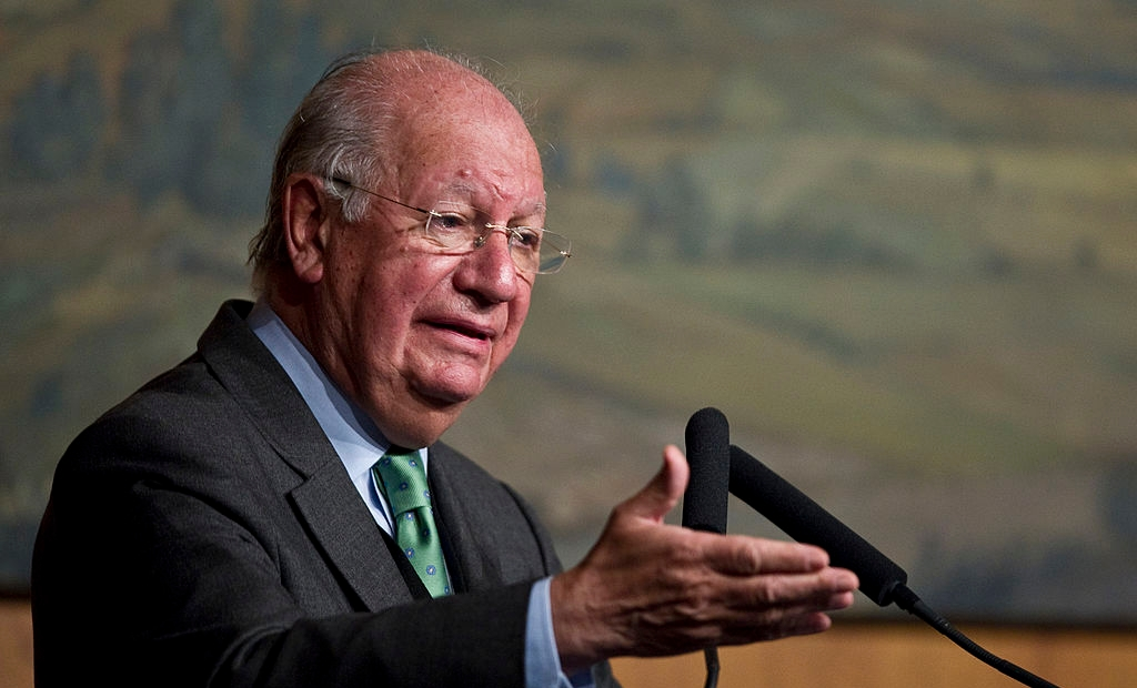 ormer president of Chile Ricardo Lagos delivers a speech during the Montevideo Society Foundation plenary meeting, in Mexico City, on July 26, 2012. AFP PHOTO/RONALDO SCHEMIDT (Photo credit should read Ronaldo Schemidt/AFP/GettyImages)
