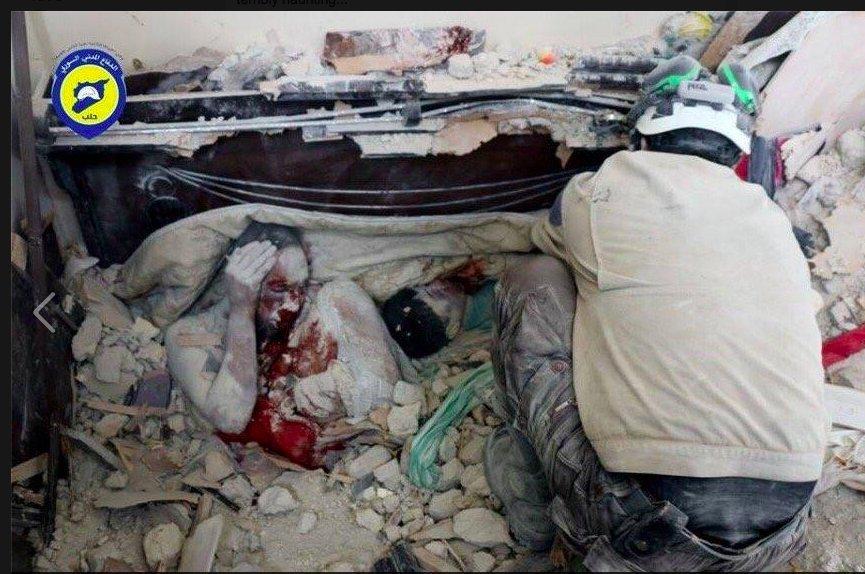 (Crédito: Defensa Civil de Siria)