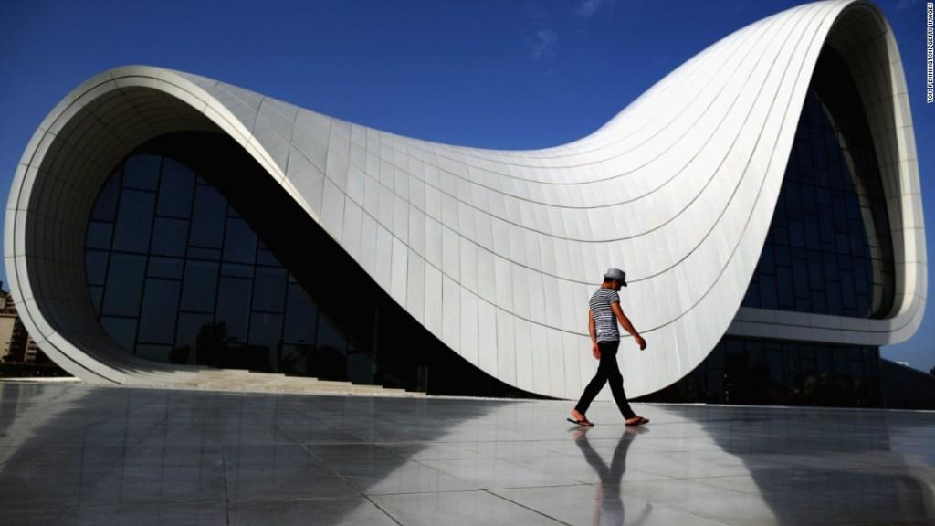 Heydar Aliyev Centre en Baku, Azerbaijan.