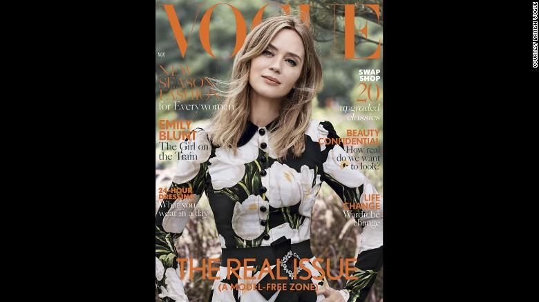 """Emily Blunt, en la portada de la edición de noviembre de la revista Vogue británica, llamada el """"Verdadero Problema"""""""