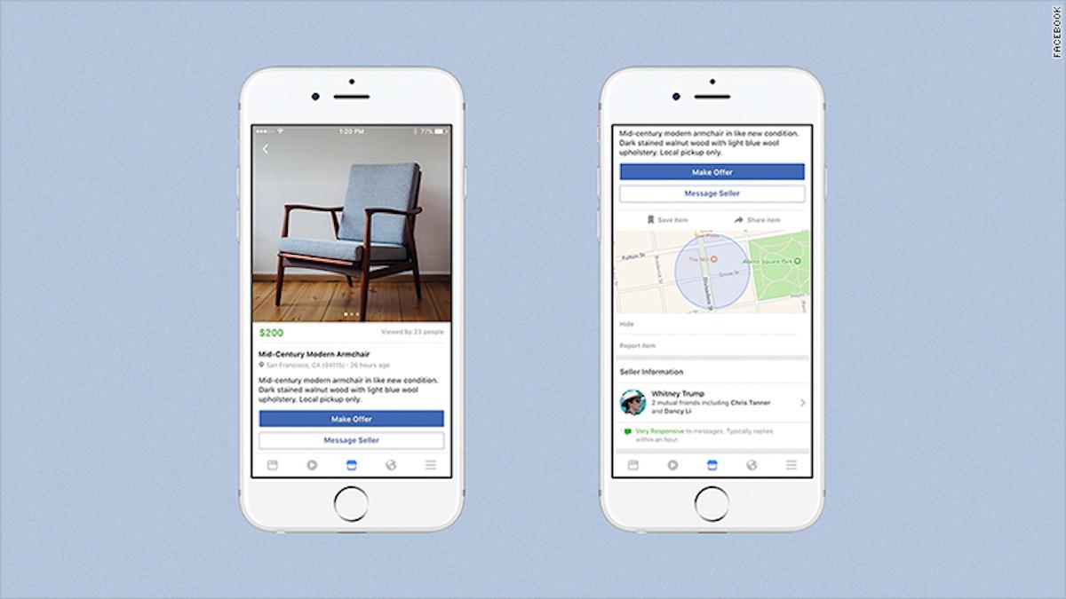 Marketplace permitirá comprar objetos en las cercanías donde esté el usuario.
