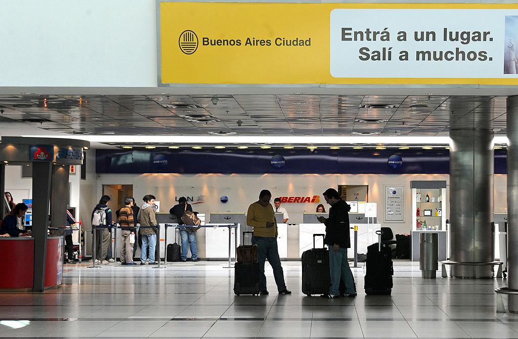 Aeropuerto Internacional Ezeiza, Buenos Aires, Argentina. (Crédito: DANIEL GARCIA/AFP/Getty Images)