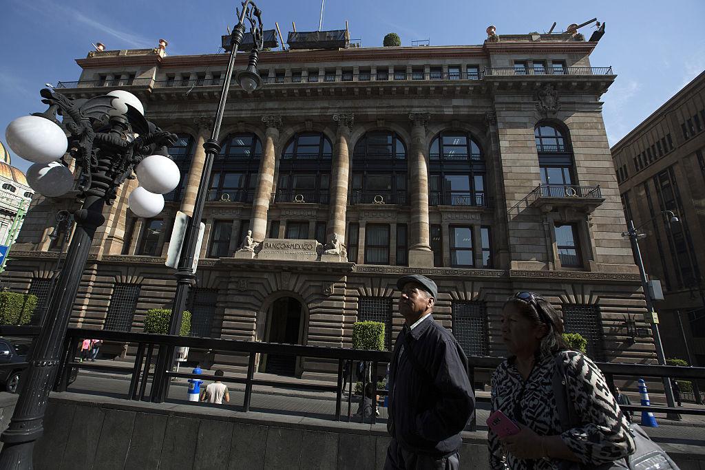 Sede del Banco Central de México en la capital. (Crédito: Susana Gonzalez/Bloomberg via Getty Images)