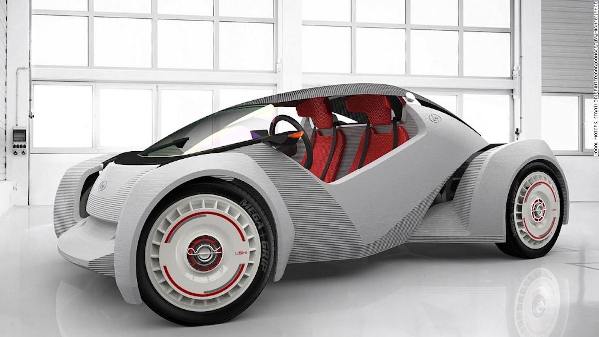 Local Motors previamente produjo el primer auto impreso en 3D del mundo, el Strati.