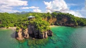 Secret Bay, en Dominica, en las Antillas.
