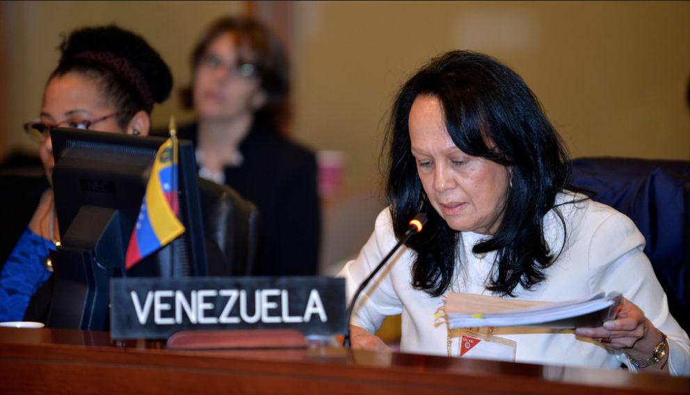 Carmen Luisa Velásquez, representante alterna de Venezuela en la OEA (Crédito: OEA)