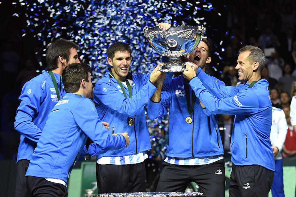 Argentina ganó la Copa Davis por primera vez. (/AFP/Getty Images)